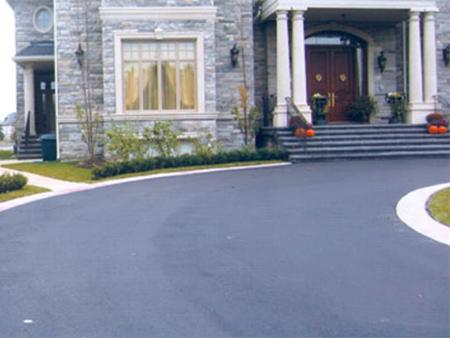 New asphalt driveway - after